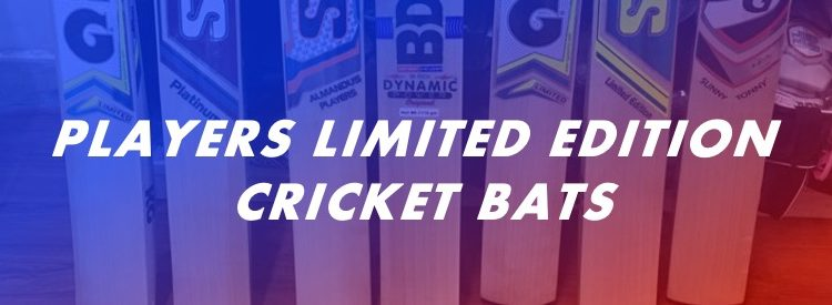 Players limited edition cricket bats